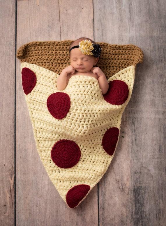 Pizza slice cocoon blanket
