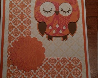 5 x 7 OWL card * Birthday * Wedding * New Baby * Anniversary * Graduation * Get Well * Congratulations * Mother's Day * Thank You * Sympathy