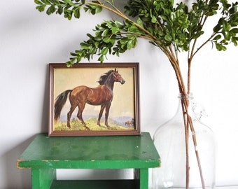 Vintage Framed Horse Print