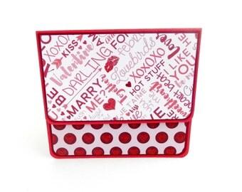 Valentine's Day Gift Card Holder, Gift Card Envelope, Gift Card Box, Money Holder- Love Words