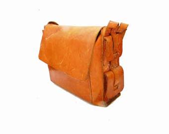 Vintage Mail Bag LARGE Industrial Leather Travel Bag