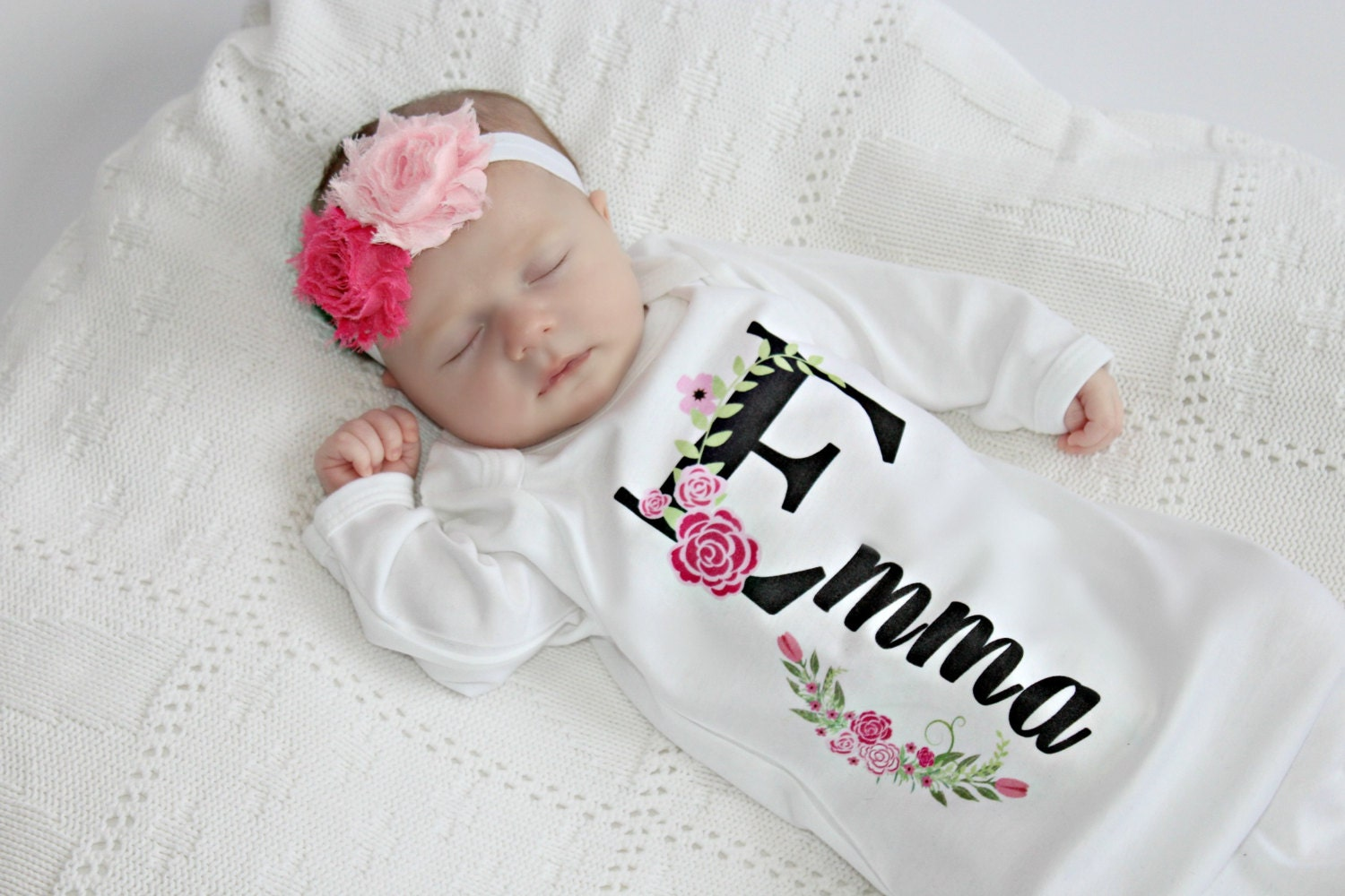 Newborn Girl Take Home Outfit Personalized Baby Girl Clothes