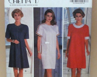 Butterick Sewing Pattern 6043 Chetta B by Peter Noviello and Sherrie Bloom Misses' Dress Size 12-14-16 Fashion Wardrobe Dress Vintage