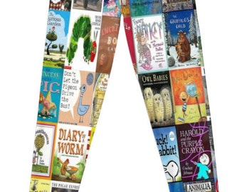 Children Picture Book Covers leggings - made to order