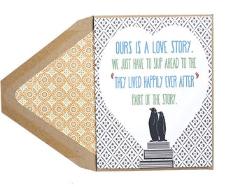 Happily Ever After - Love, Celebration, Anniversary Card, Boy Met Boy, Gay, Same Love Card