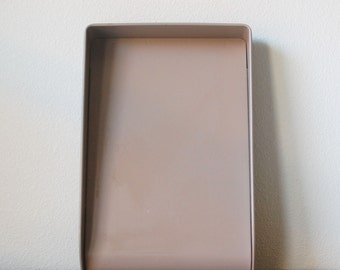 Vintage office metal tan GW Systems paper tray file sorter IN BOX  Globe-Weis