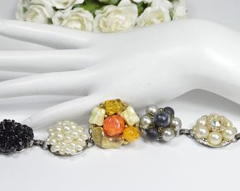 Vintage Coral Earring Bracelet