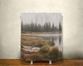 Lake Shower Curtain Etsy