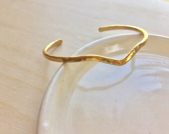 Brass V  Bracelet