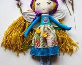 """25% OFF SALE!! Mist Fairy Doll - fairy doll - """"Caoimhe"""" - Handmade Cloth Doll"""