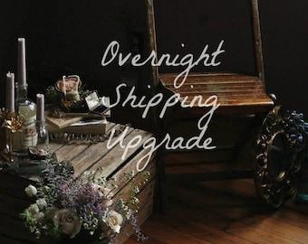 Overnight Shipping Upgrade.