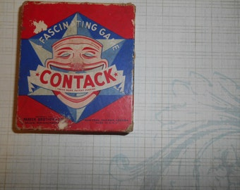 Antique 1940s  Contack Parker Brothers Board Game Tiles