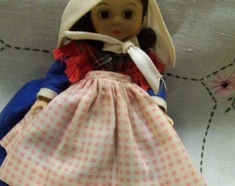 """Madame Alexander Doll Vintage 7"""" Belguim Authentic Jointed Sleep Eyed Doll Dolls from Around the World Original Ethnic Outfit"""