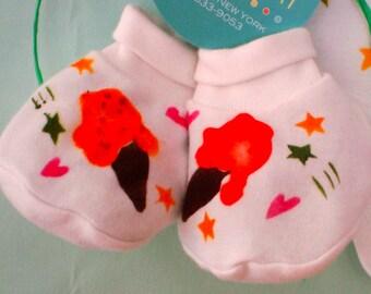 Hand Painted Bootie/Socks