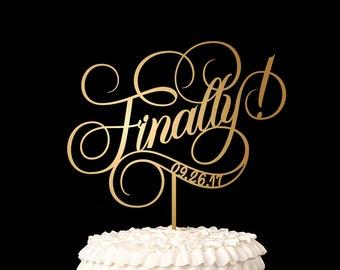 Finally Wedding Cake Topper - Ballroom Collection