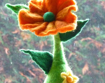 felted flower ornaments, flowers, decoration, home improvement, floral, home decor, home & living, felt, handmade, READY TO SHIP