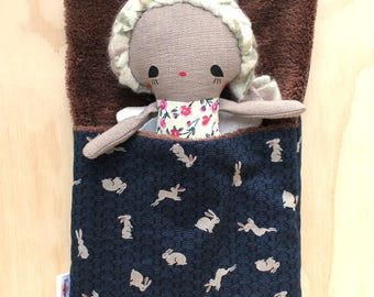 bunny doll sleeping bag