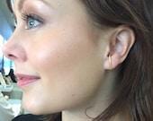 Minimalist Gold Ear Suspender Hoops, Gold Filled Suspender Earrings,  Gold Ear Cuff, Gold Wrap Hoop,  Huggie Earring, Gold Hook Ear Bar