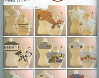 Simplicity Crafts Pattern 7646 NEW Womens Collars Size A Small Medium Large
