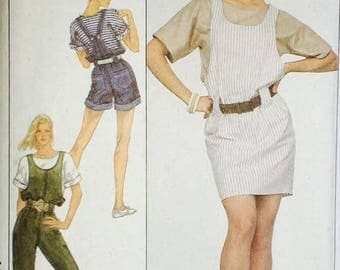 Simplcity 1980's Short, Pant and Skirt Overalls 8495