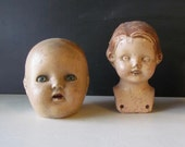 Duo of Antique Doll Heads!