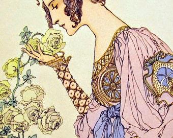 Art Nouveau Greeting Card Set or Print by Ellanbee