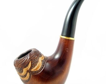 "Magic Wooden tobacco pipe ""Gulf Stream"", Handcrafted Smoking Pipe BEST OFFER Wooden pipe Special Designed for Pipe Smokers"