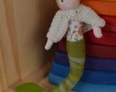mermaid doll, bendy doll, waldorf doll, waldorf mermaid