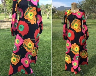 Vintage 70s long dress made in Italy