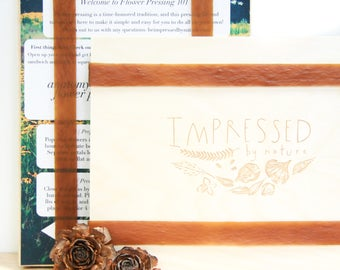 Flower Press DIY Kit - Large Wooden Flower Press