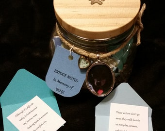 BRIDGE NOTES Pet Loss Memorial Gift