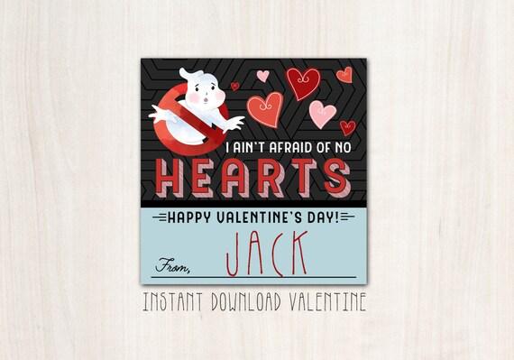 Ghostbuster Valentines - DIY Print - INSTANT DOWNLOAD