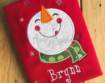 Snowman shirt, Christmas shirt, boys Christmas shirt, girls Christmas shirt, Christmas outfit, Christmas top, kids christmas shirt, snowman