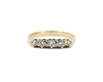 Vintage Diamond Eternity Ring - 9ct Gold Vintage Wedding Ring