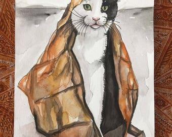 CUSTOM: Let me paint your cat/ Custom cat portrait/ Custom cat painting