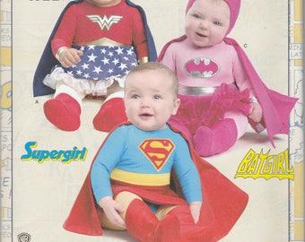 DC Comics Baby Costume Pattern Simplicity 8193 XXS - L Uncut