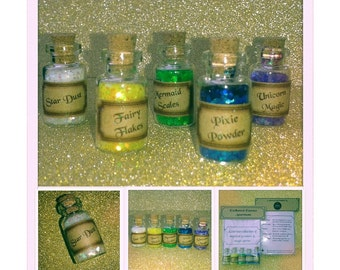 Enchanted Essence Gift Set - Set of 5 Magic Glitters - Favours