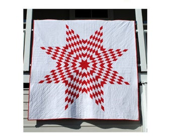 Classic Lone Star Quilt - PDF pattern