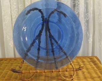 Vintage 90's cobalt blue glass salad bowls set of 4