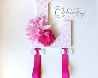Bow Holder, Headband holder, hair bow holder, initial bow holder, bow organizer, headband organizer, custom bow holder, baby shower gift