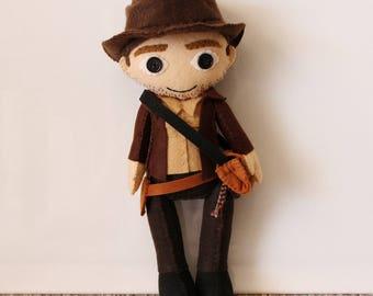 Indiana Jones Inspired Felt Doll