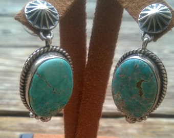 Beautiful #8 Turquoise Earrings by LaRose Ganadonegro From The !980's