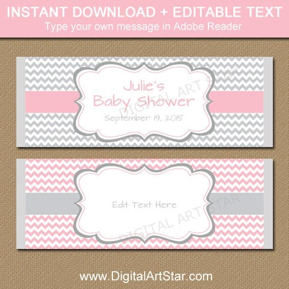 Baby shower candy wrapper template printable chocolate wrappers il570xn pronofoot35fo Choice Image