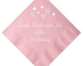 Twinkle Twinkle Little Star Birthday Personalized Napkins (2235)