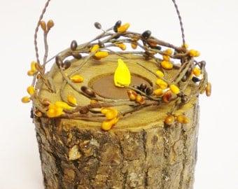 Tree Branch Lantern, Primitive Tea Light Candle Holder, Tree Branch Candle Holders