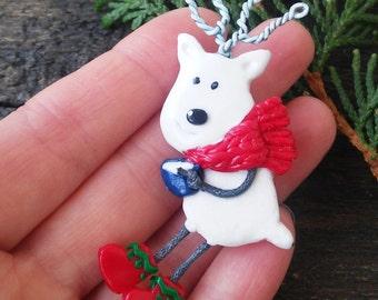 Christmas brooch Rudolph Santas Reindeer, Cute small gift, Christmas jewelry, Christmas Deer Brooch, Christmas gift