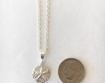 Dainty Sand Dollar Sterling Silver Necklace