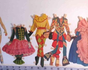 Listing updated - Vintage Little Ballerina paper dolls Merrill Co #1542 1953