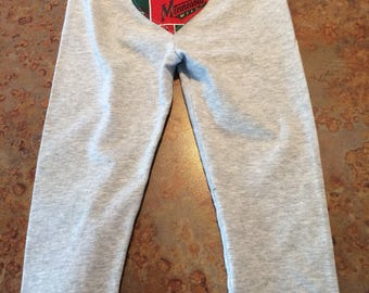 Minnesota Wild Baby Girl Cotton Pants with Lace ~ Size 24 months ~ NHL Heart Appliqué ~ UPcycled ~Jumping Beans~ Perfect for Baby Wild Fan!!