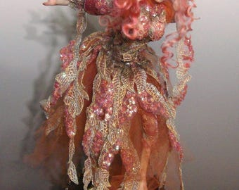"OOAK ""CALEA"", a One of A Kind Art Doll fairy sculpture by Victoria Mock"